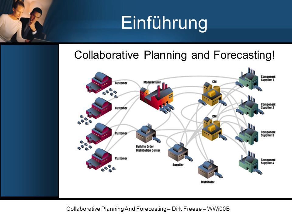 Collaborative Planning And Forecasting – Dirk Freese – WWi00B Agenda Kapitel 1:Einführung Kapitel 2:Von SCOR zu CPF(R) Kapitel 3:Wie funktioniert CPF(R) Wrap Up Kapitel 4:9-Steps Model Kapitel 5:Fallbeispiel Wrap Up Kapitel 6:Status und Ausblick