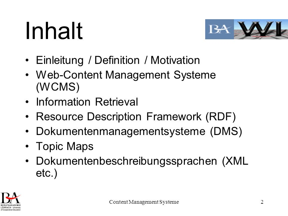 Content Management Systeme43 WCMS: Einsatzkriterien One to One Marketing / Personalisierung Benutzermodellierung /z.B.