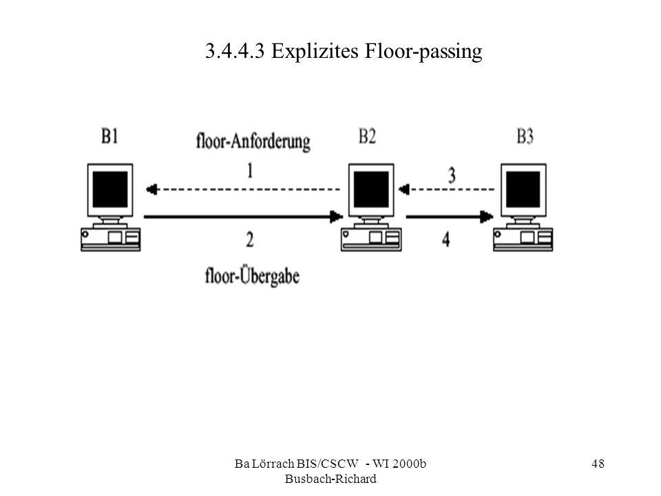 Ba Lörrach BIS/CSCW - WI 2000b Busbach-Richard 48 3.4.4.3 Explizites Floor-passing