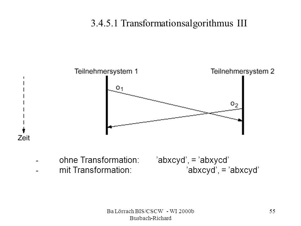 Ba Lörrach BIS/CSCW - WI 2000b Busbach-Richard 55 - ohne Transformation:abxcyd, = abxycd - mit Transformation:abxcyd, = abxcyd 3.4.5.1 Transformations