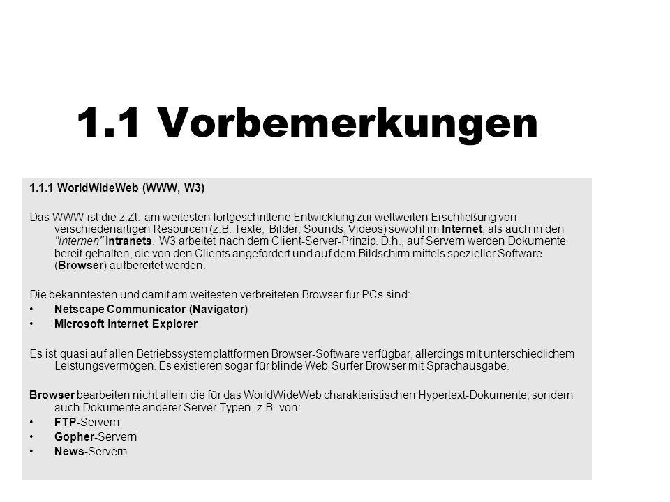 1.3 Die Tags im Einzelnen 1.3.2.5 AnkerBeispielBeispiel Man stelle sich vor, ein langer, in verschiedene Abschnitte gegliederter Text, läge als HTML - Dokument vor.