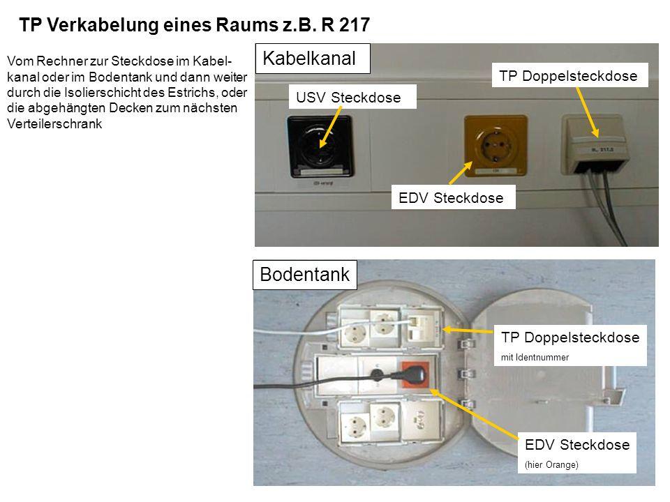14 Kabelkanal in der Fertigungshalle EDV Steckdose FO Steckdose