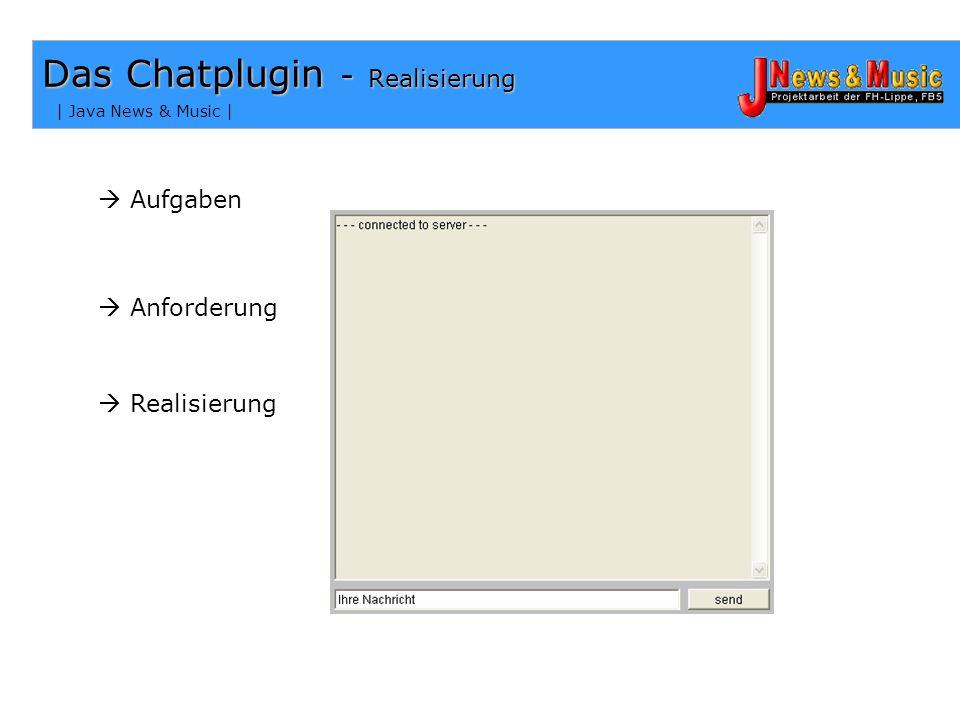 | Java News & Music | Die Klasse mainmanager - Die Zeitausgabe In unserem Chat werden zwei Zeitausgaben generiert