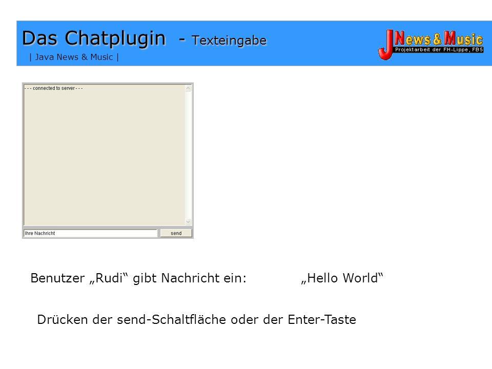 | Java News & Music | Das Chatplugin – Thread 067 public void start() 068 {... 089 if (mythread == null) 090 { 091 mythread = new Thread(this); 092 my