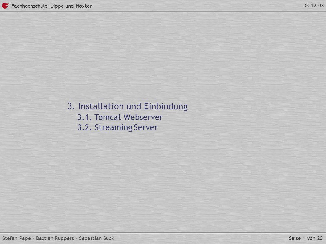 Seite 1 von 20 Fachhochschule Lippe und Höxter 03.12.03 3.