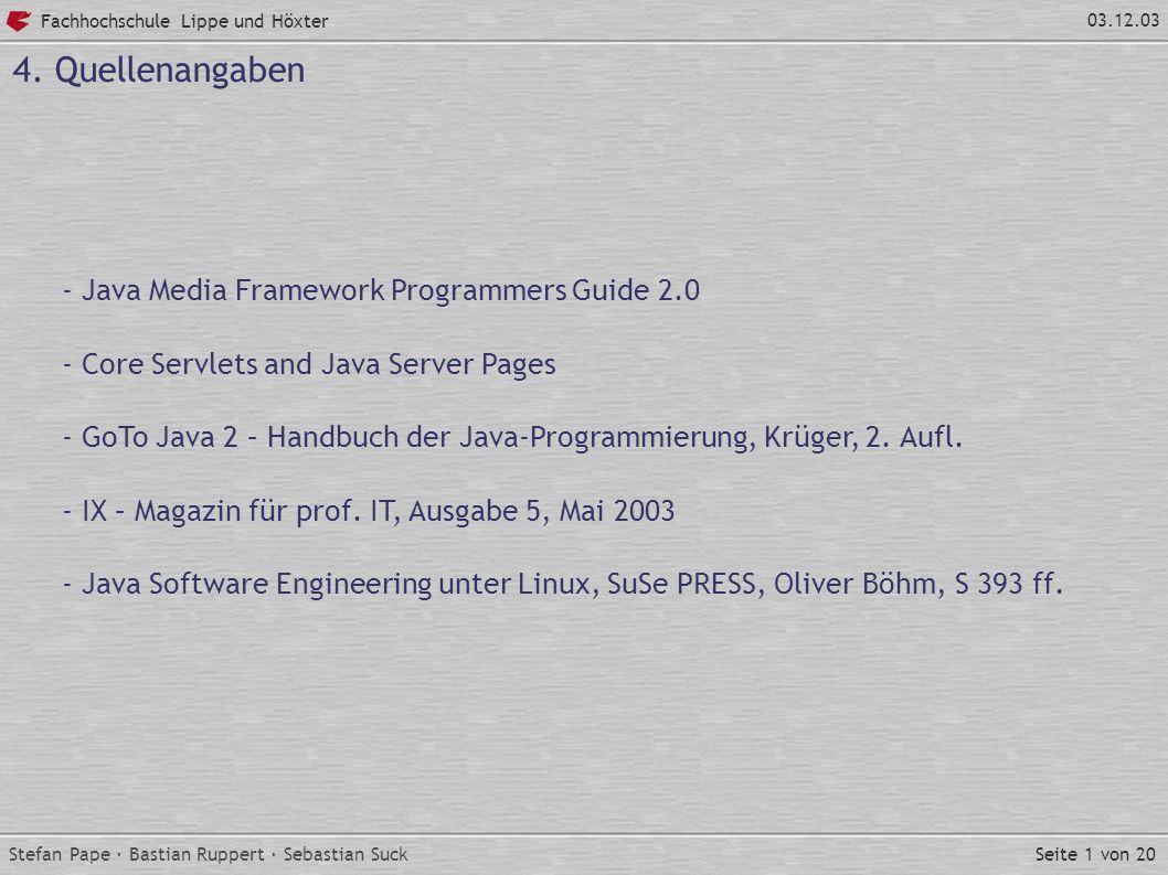 Seite 1 von 20 Fachhochschule Lippe und Höxter 03.12.03 4.