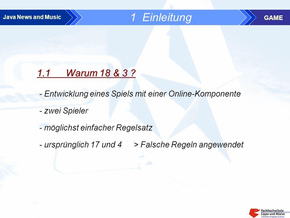 Java News and Music GAME 1 Einleitung 1.2 Aufgabenverteilung C.
