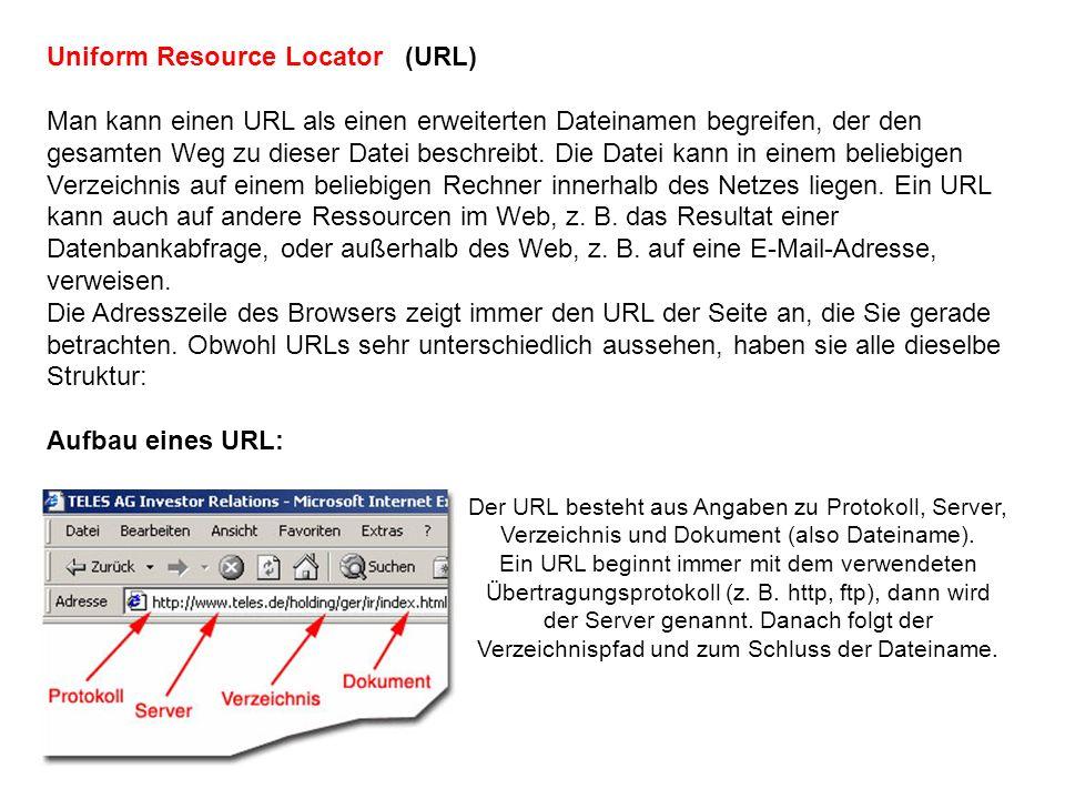 Webadresse aufrufen Um direkt eine bestimmte Seite zu besuchen, geben Sie die Webadresse (URL) in die Adresszeile des Browsers ein und drücken die Eingabetaste.