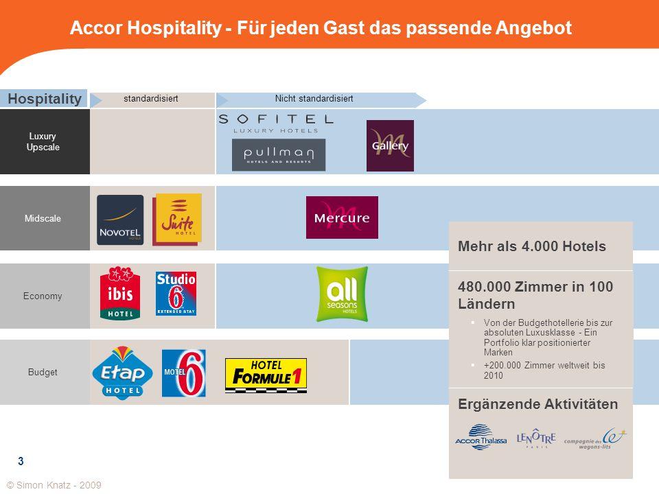 Luxury Upscale Midscale Economy Budget Hospitality standardisiertNicht standardisiert Ergänzende Aktivitäten Accor Hospitality - F ü r jeden Gast das