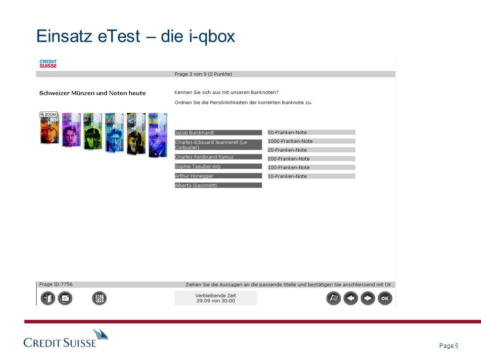 Page 6 Einsatz eTest – die i-qbox