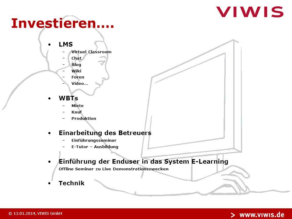© 13.01.2014, VIWIS GmbH Vielen Dank für Ihre Aufmerksamkeit!