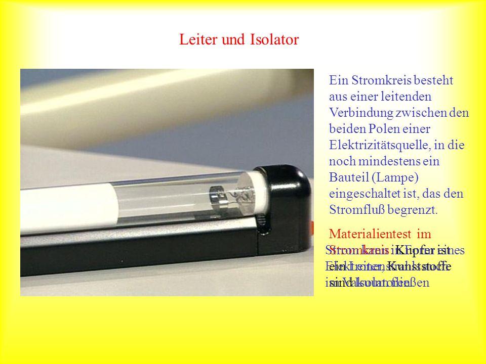 Stromfluß mikroskopisch betrachtet Ein Musterbeispiel ist Silicium, das in Reinstform ein Isolator ist.