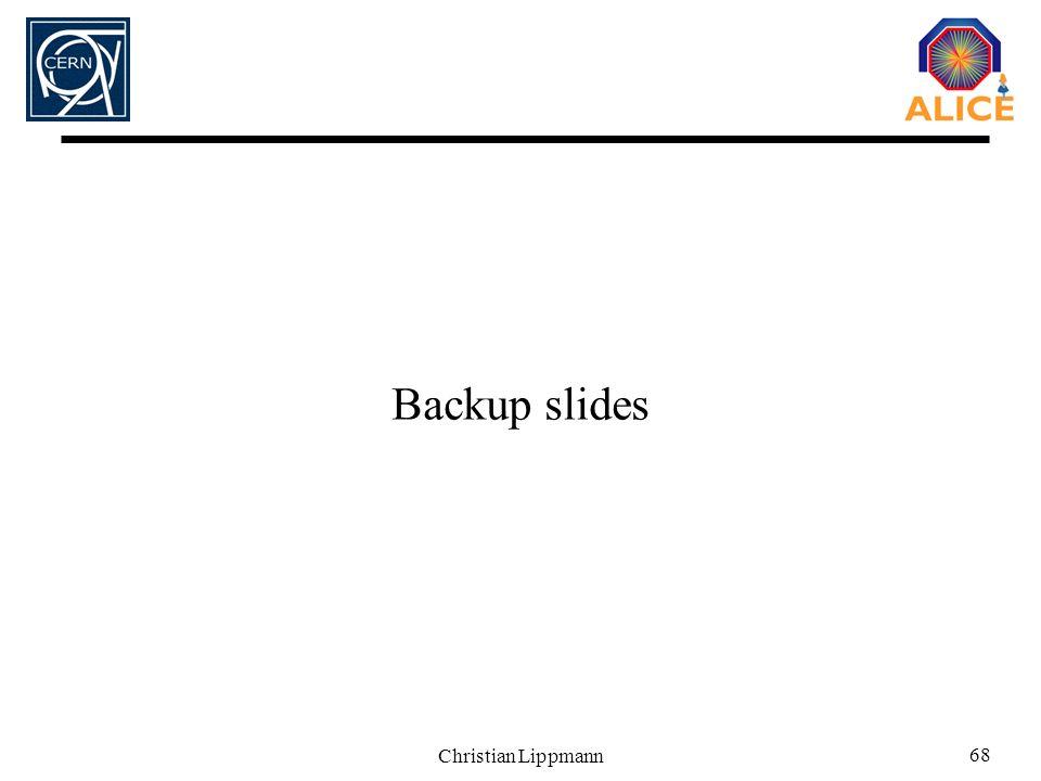 Christian Lippmann 68 Backup slides