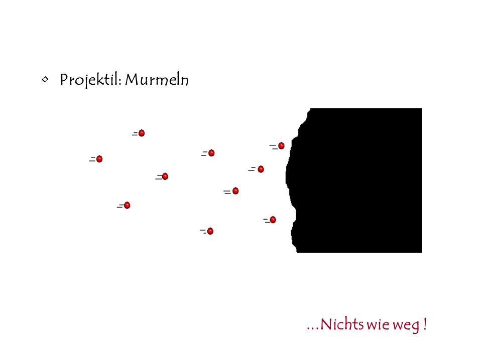 Projektil: Murmeln...Nichts wie weg !