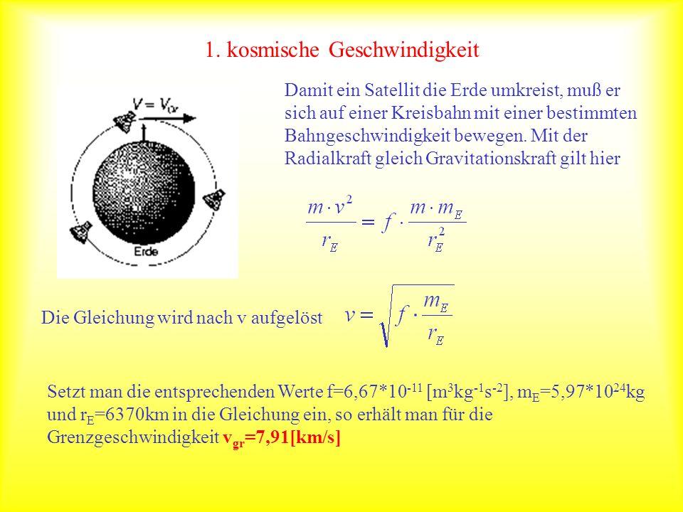 Potentielle Energie im Gravitationsfeld Im erdnahen Bereich ist die Hubarbeit gegeben durch Die allgemeine Formel für die Arbeit ist Auf der Erdoberfläche r E gilt In der Höhe r 1 wirkt die Kraft Ist das erste Intervall nicht zu groß,so ist der Mittelwert