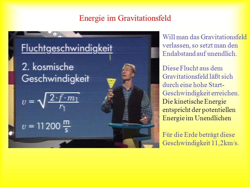 Gravitationsfeld Modellexperiment: Die Kraftrichtungen verlaufen strahlenförmig zum zentralen Mittelpunkt Definition einer Feldstärke: Man dividiert die Kraft durch die Masse des Probekörpers.