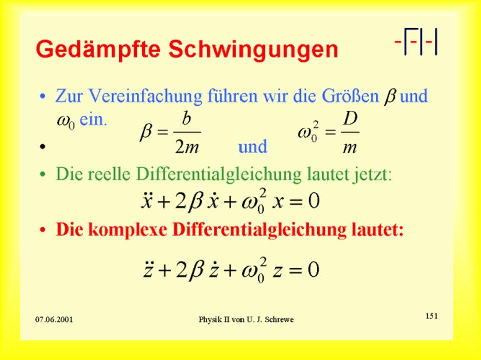Schwingungslösung: Beispiel 1