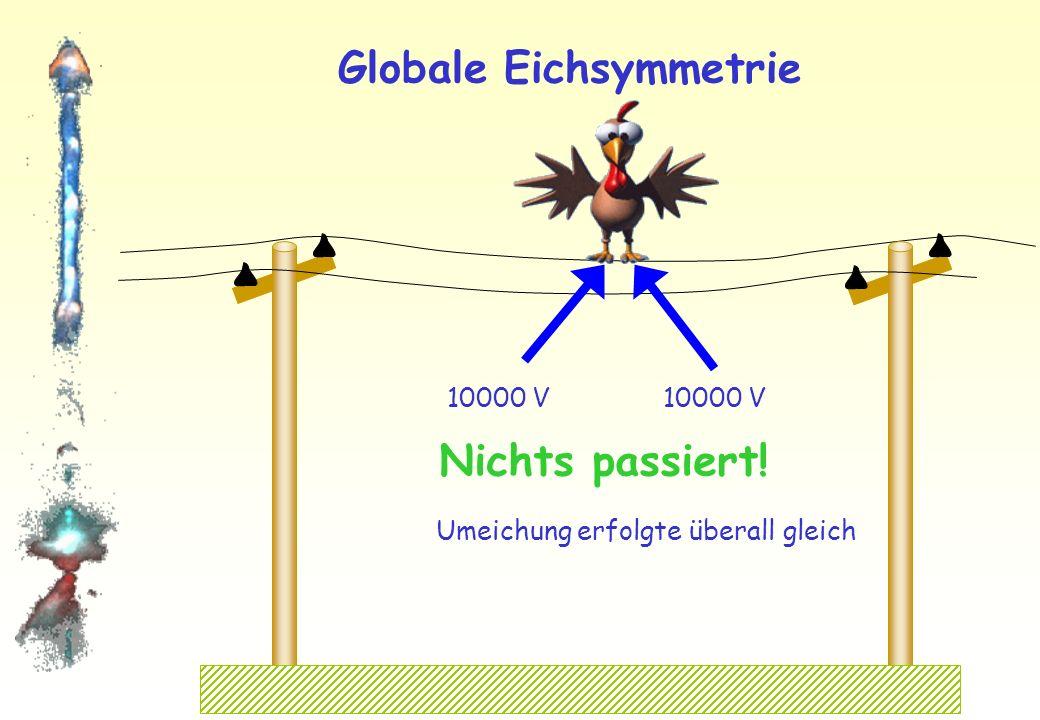 Globale Eichsymmetrie Bilder: www.moorhuhn.de 0 V