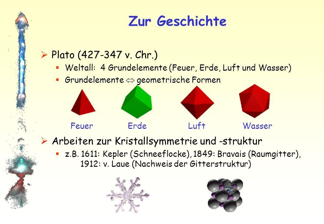 Zur Geschichte Plato (427-347 v.
