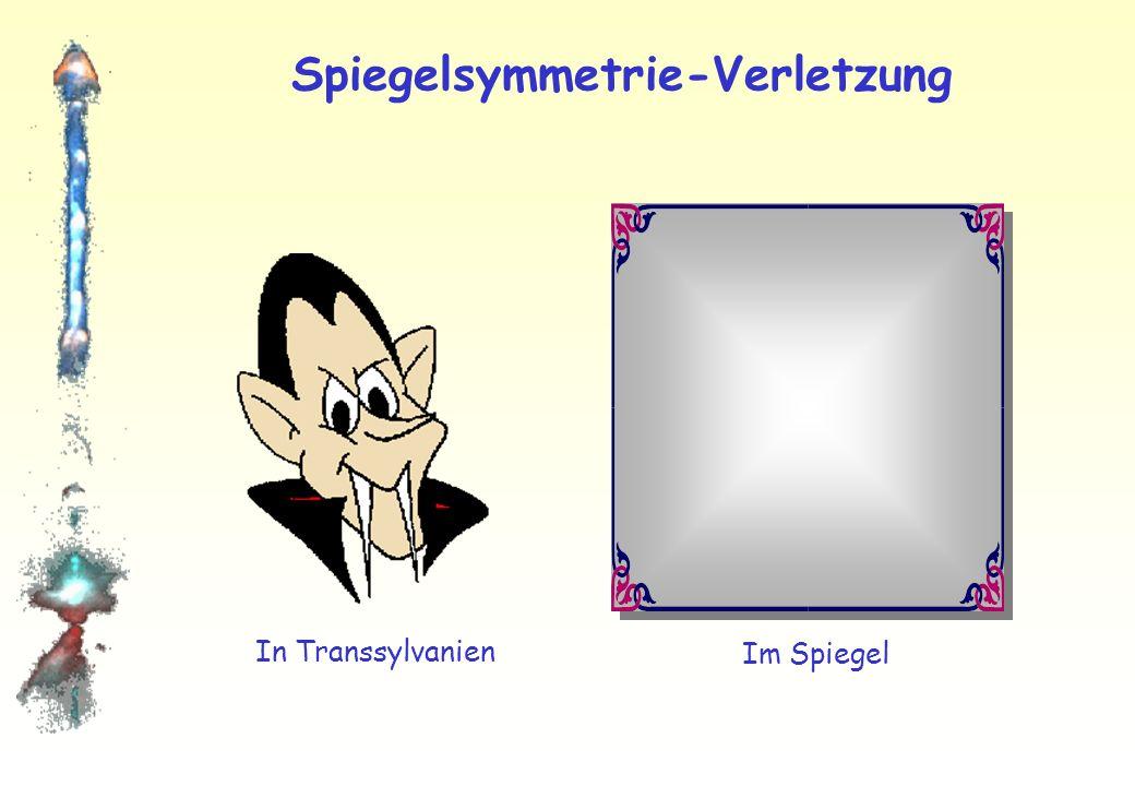 Spiegelsymmetrie-Verletzung Menschen: Natur und Spiegelbild nahezu identisch! Spiegelsymmetrie leicht verletzt!