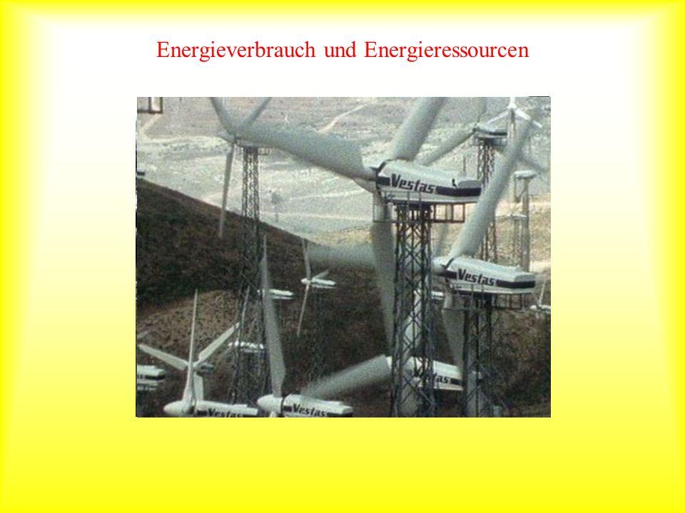 Energieverbrauch und Energieressourcen