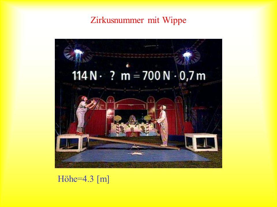 Zirkusnummer mit Wippe Höhe=4.3 [m]