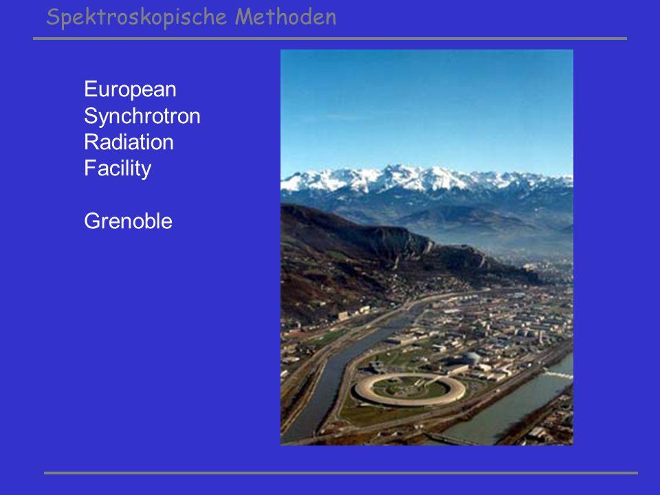 Spektroskopische Methoden European Synchrotron Radiation Facility Grenoble