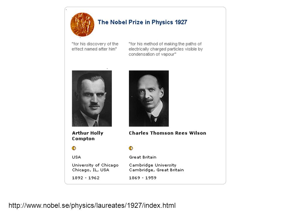 http://www.nobel.se/physics/laureates/1927/index.html