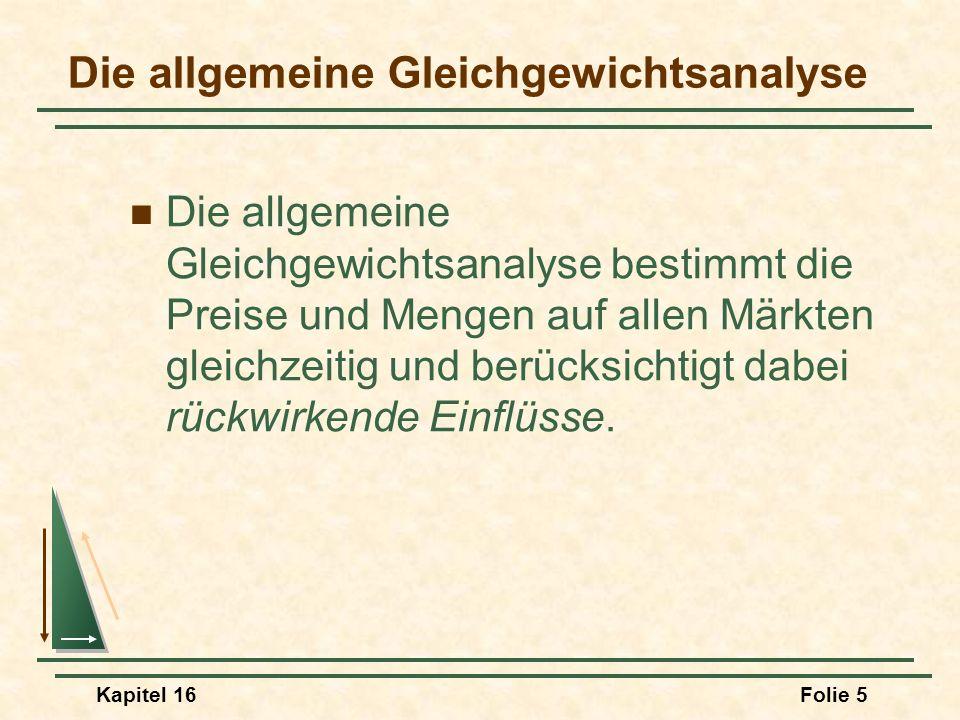 Kapitel 16Folie 16 Effizienz beim Tausch Annahmen Zwei Konsumenten (Länder) Zwei Güter Beide Personen kennen die Präferenzen des jeweils anderen.