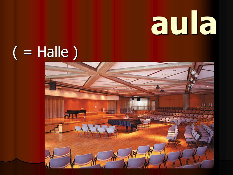 aula aula ( = Halle )