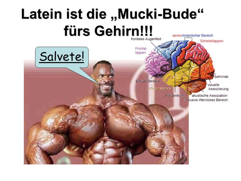 Latein ist die Mucki-Bude fürs Gehirn!!! Latein ist die Mucki-Bude fürs Gehirn!!! Salvete!