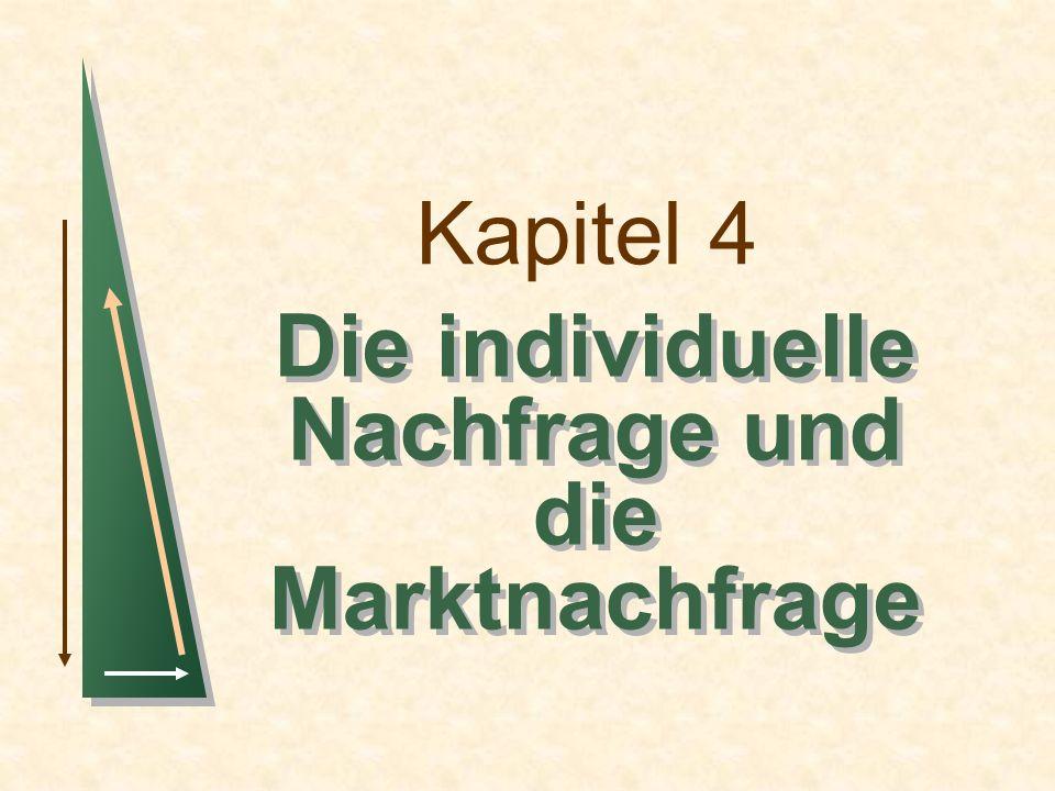 Kapitel 4 Die individuelle Nachfrage und die Marktnachfrage