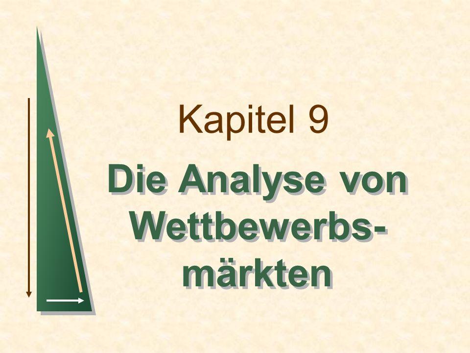Kapitel 9 Die Analyse von Wettbewerbs- märkten