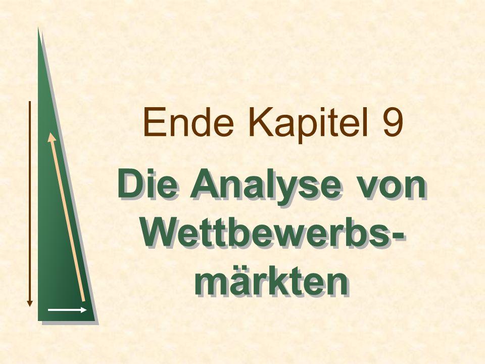 Ende Kapitel 9 Die Analyse von Wettbewerbs- märkten