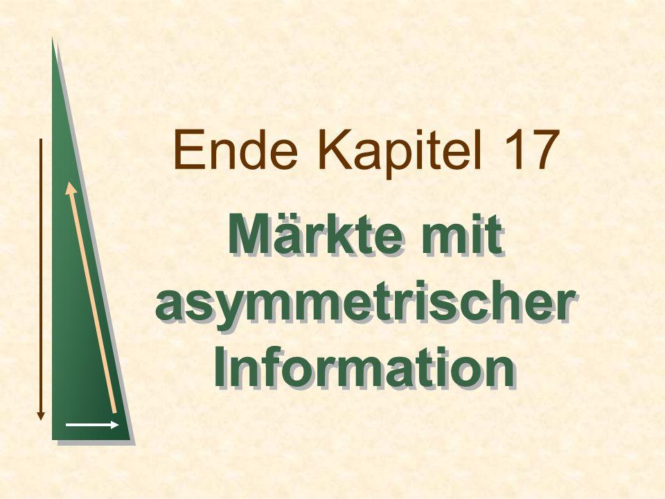 Ende Kapitel 17 Märkte mit asymmetrischer Information