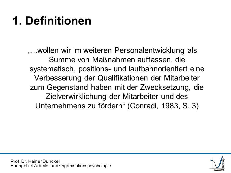 Prof. Dr. Heiner Dunckel Fachgebiet Arbeits- und Organisationspsychologie...wollen wir im weiteren Personalentwicklung als Summe von Maßnahmen auffass