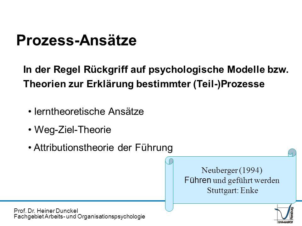 Prof. Dr. Heiner Dunckel Fachgebiet Arbeits- und Organisationspsychologie In der Regel Rückgriff auf psychologische Modelle bzw. Theorien zur Erklärun