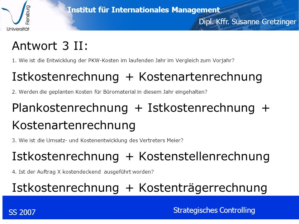 Institut für Internationales Management Dipl. Kffr.