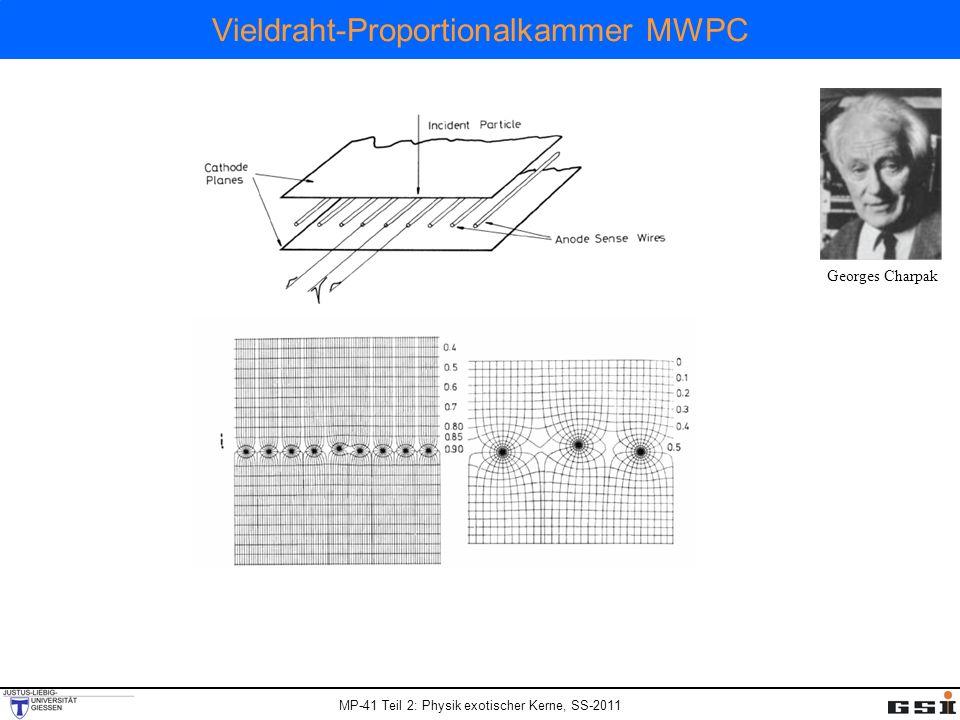 MP-41 Teil 2: Physik exotischer Kerne, SS-2011 Vieldraht-Proportionalkammer MWPC Georges Charpak