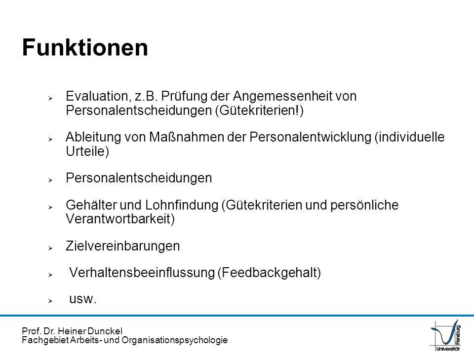 Prof.Dr. Heiner Dunckel Fachgebiet Arbeits- und Organisationspsychologie ZielVerfahrensweisen 1.