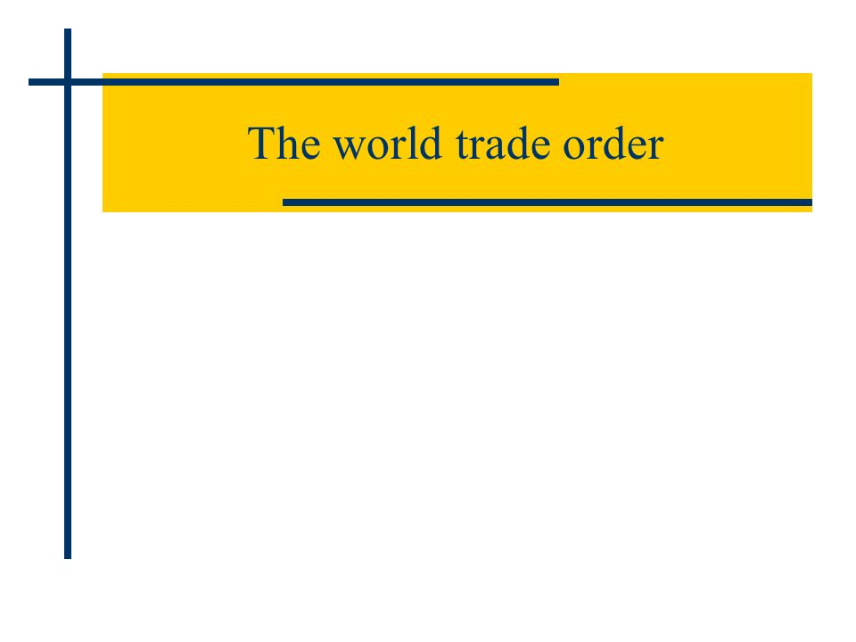 The world trade order