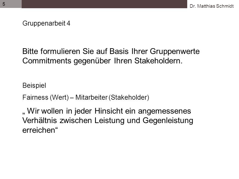 Dr.Matthias Schmidt 6 Quelle: Unternehmensethik konkret.