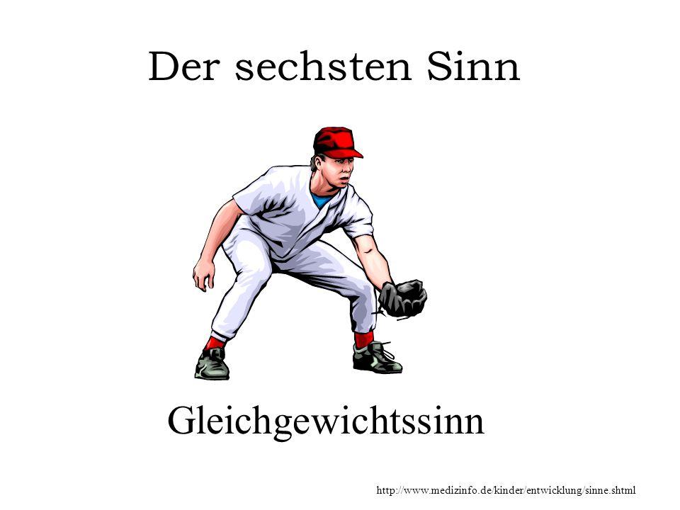 Gleichgewichtssinn Der sechsten Sinn http://www.medizinfo.de/kinder/entwicklung/sinne.shtml