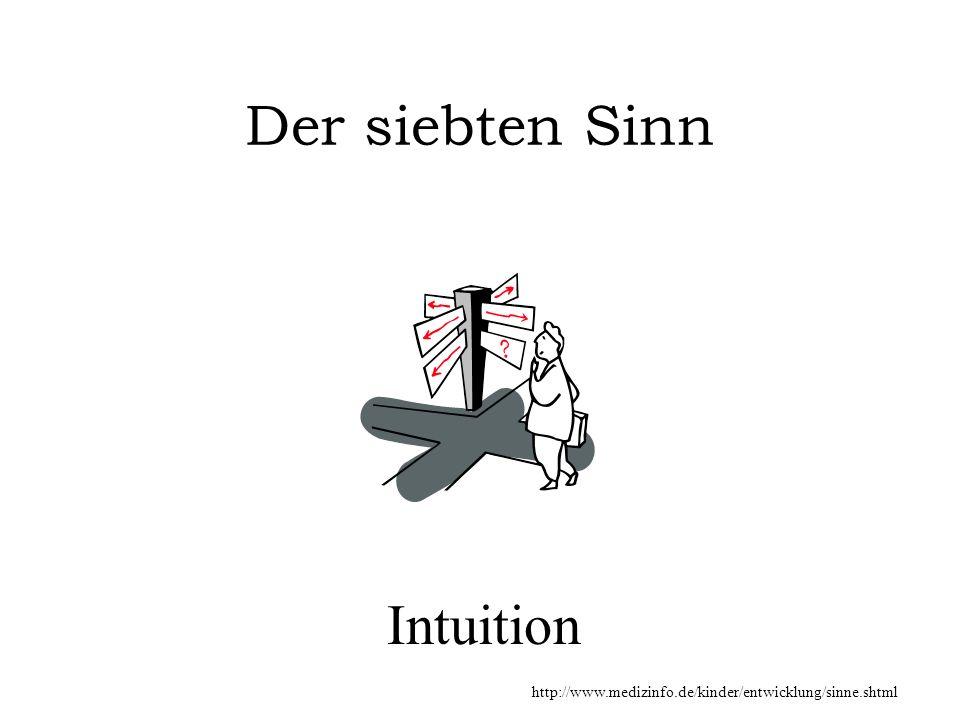 Intuition Der siebten Sinn http://www.medizinfo.de/kinder/entwicklung/sinne.shtml