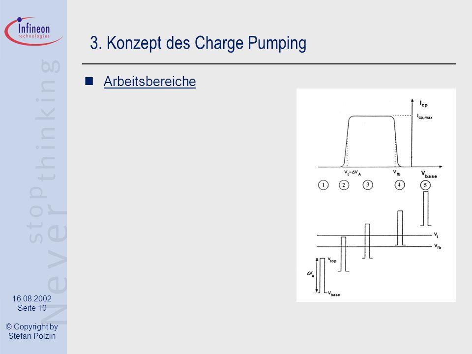 16.08.2002 Seite 10 © Copyright by Stefan Polzin 3. Konzept des Charge Pumping Arbeitsbereiche