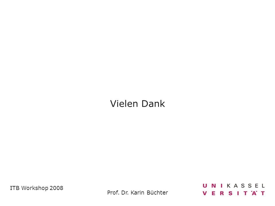 ITB Workshop 2008 Prof. Dr. Karin Büchter Vielen Dank