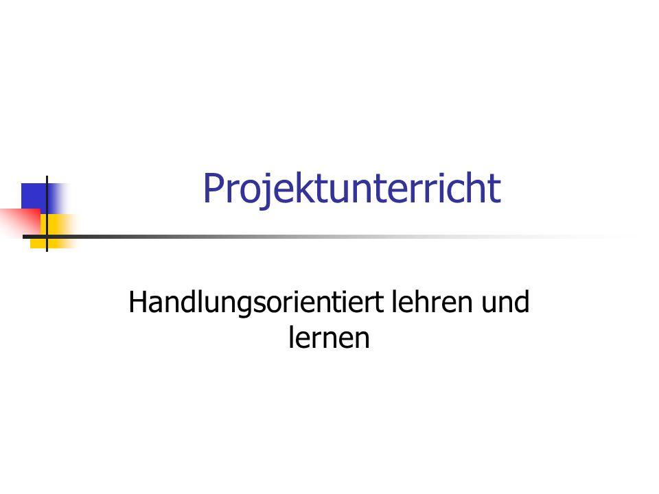 Grundmuster der Projektmethode 1.Projektinitiative 2.