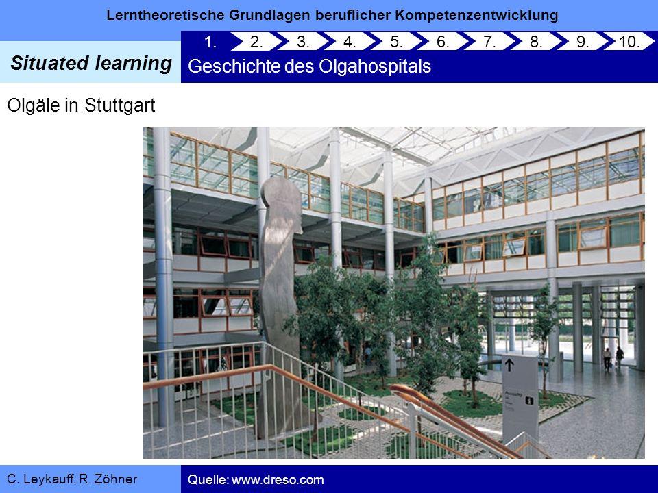 Lerntheoretische Grundlagen beruflicher Kompetenzentwicklung Situated learning C. Leykauff, R. Zöhner 1. Geschichte des Olgahospitals 2. 3.4.5.6.7.8.9
