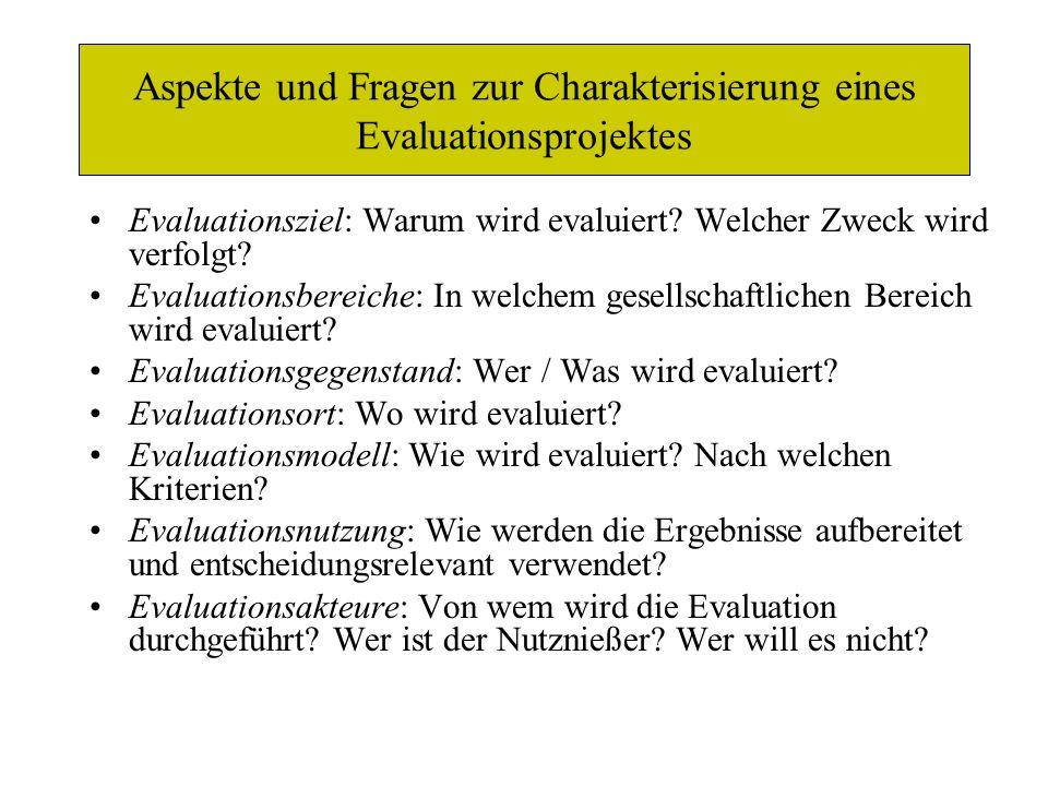 Unterschiedliche Formen der Systemsteuerung und -kontrolle (Wottawa/ Thierau 1998, S.