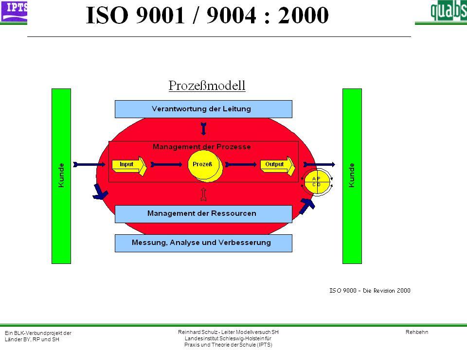 22.06.2000 SIEFER Qualitätsentwicklung in der Berufsschule Ein Modellversuch des Landes Schleswig-Holstein, gefördert mit Mitteln des Bundes Normrevision E DIN EN ISO 9000:-2000 1.